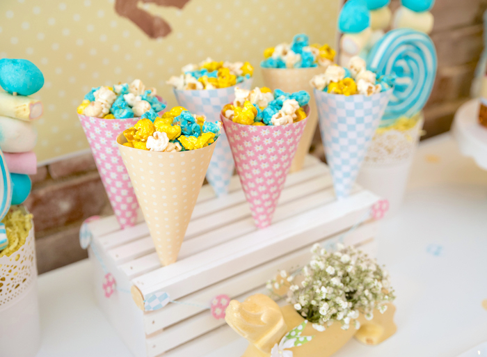 Colored popcorn cones from a Girly Oktoberfest Party on Kara's Party Ideas | KarasPartyIdeas.com (22)