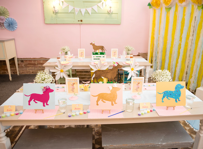 Party tables from a Girly Oktoberfest Party on Kara's Party Ideas | KarasPartyIdeas.com (20)
