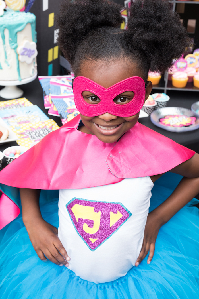 Girly Superhero Birthday Party on Kara's Party Ideas | KarasPartyIdeas.com (9)