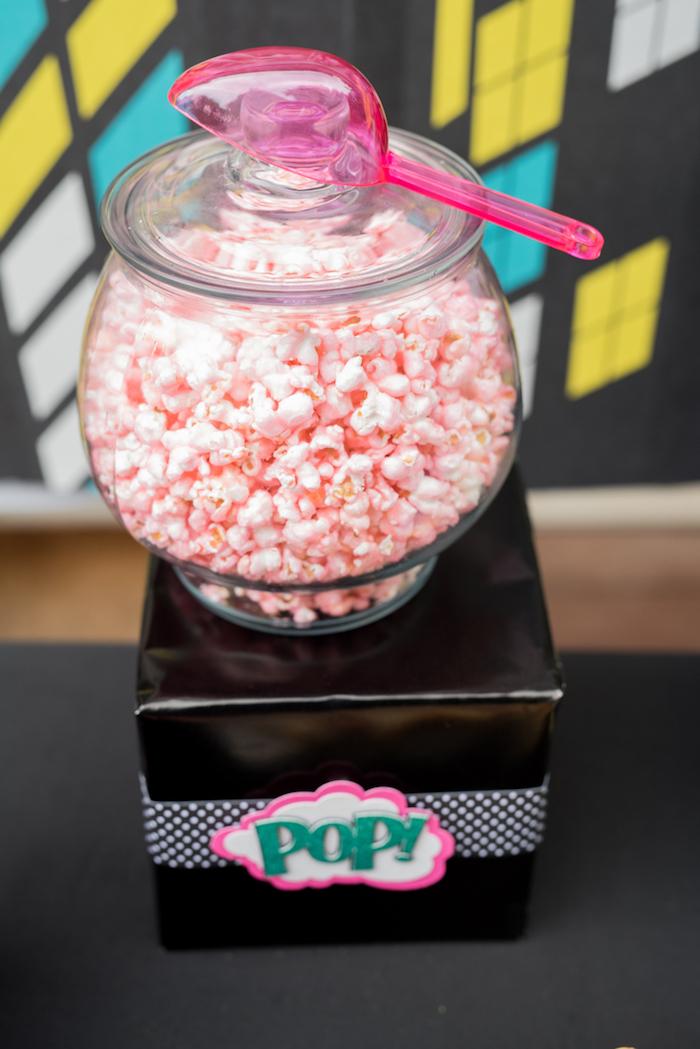 """Pop""corn from a Girly Superhero Birthday Party on Kara's Party Ideas | KarasPartyIdeas.com (17)"