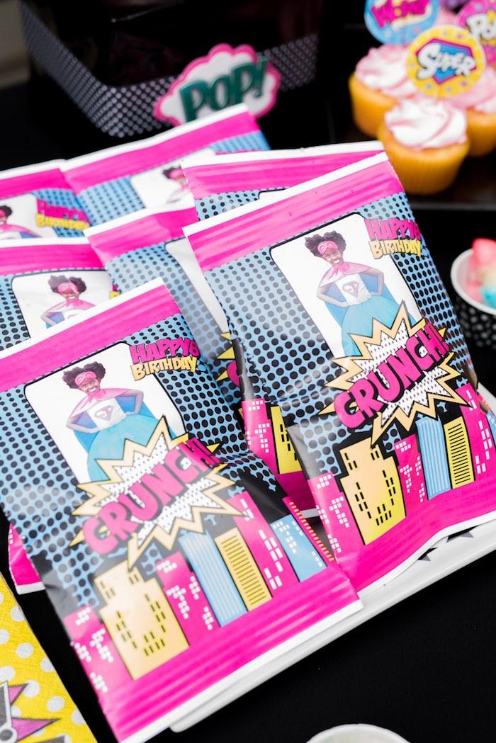 Favors from a Girly Superhero Birthday Party on Kara's Party Ideas | KarasPartyIdeas.com (16)