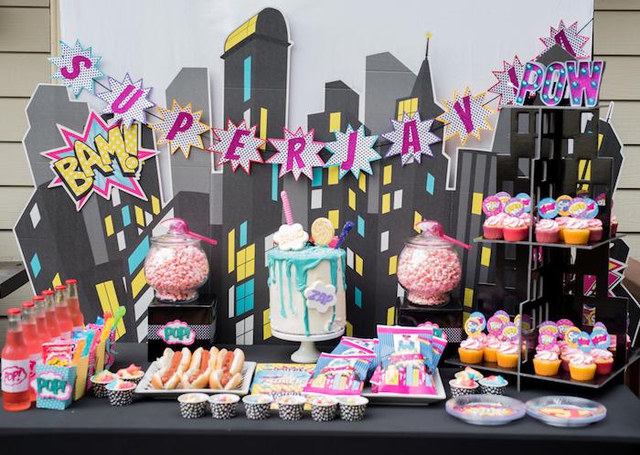Girly Superhero Birthday Party on Kara's Party Ideas | KarasPartyIdeas.com (14)