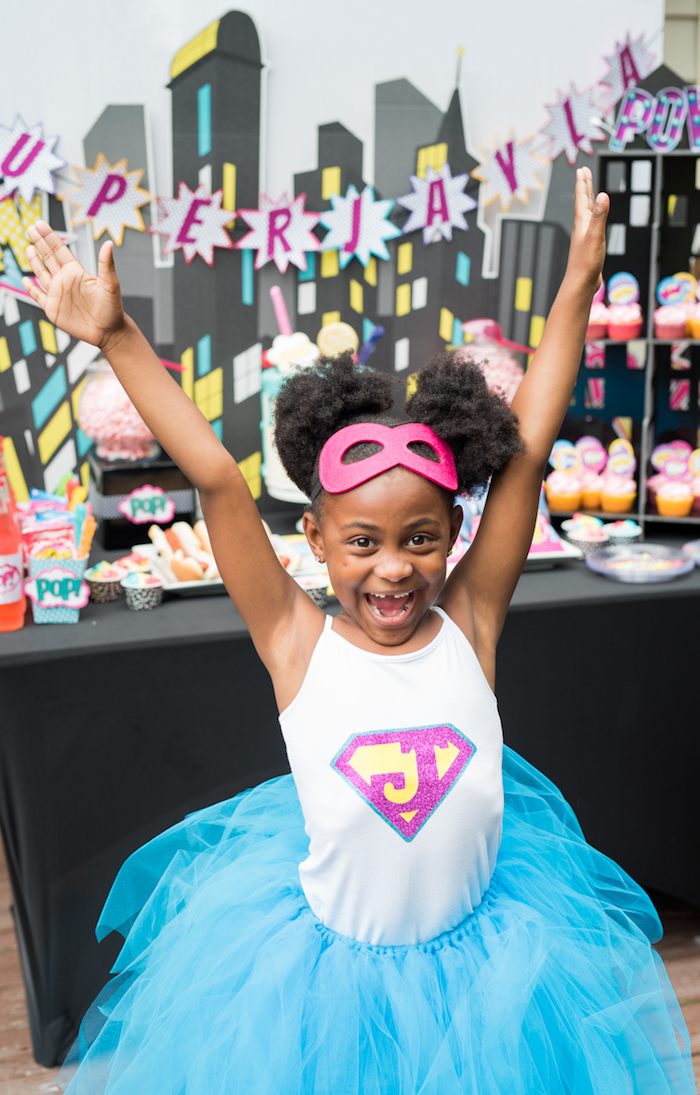 Girly Superhero Birthday Party on Kara's Party Ideas | KarasPartyIdeas.com (11)