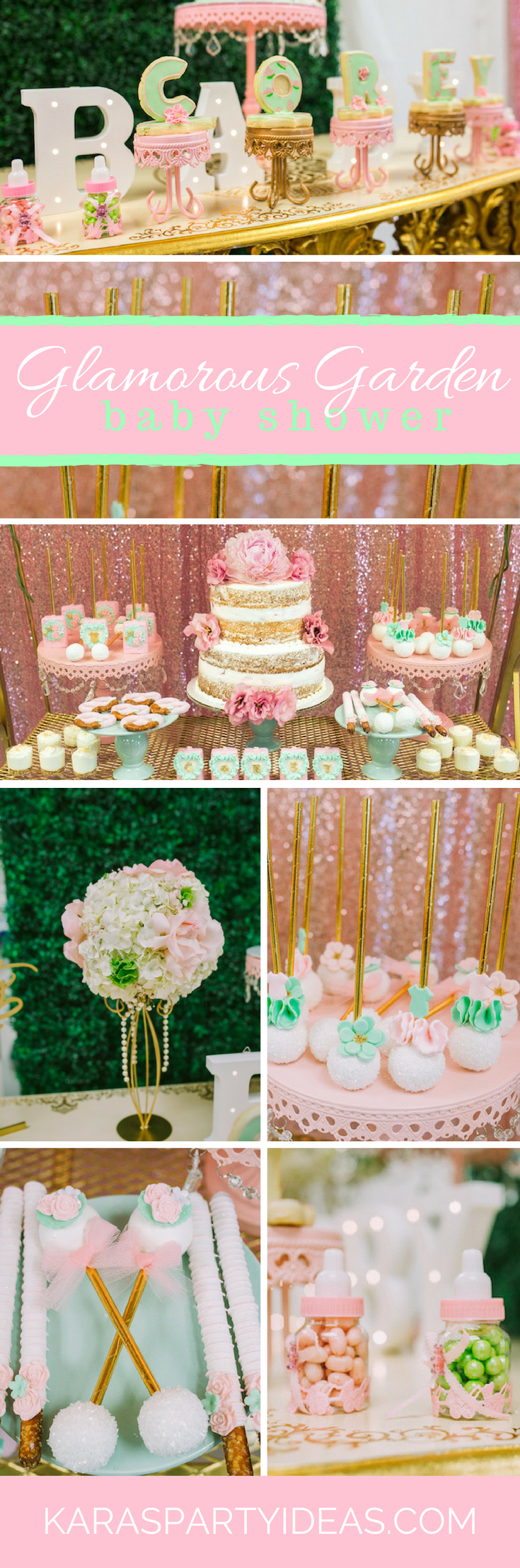 Glamorous Garden Baby Shower via Kara's Party Ideas - KarasPartyIdeas.com