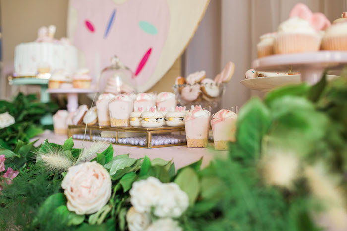 Sweet tablescape from a Hello Kitty Inspired Donut Party on Kara's Party Ideas | KarasPartyIdeas.com (11)