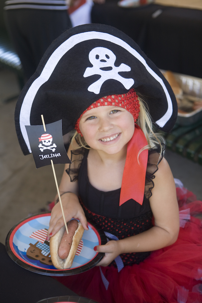 Pirate from a Misty Cove Pirate Birthday Party via Kara's Party Ideas | KarasPartyIdeas.com