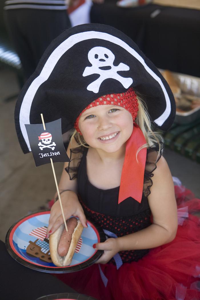Pirate from a Misty Cove Pirate Birthday Party via Kara's Party Ideas | KarasPartyIdeas.com