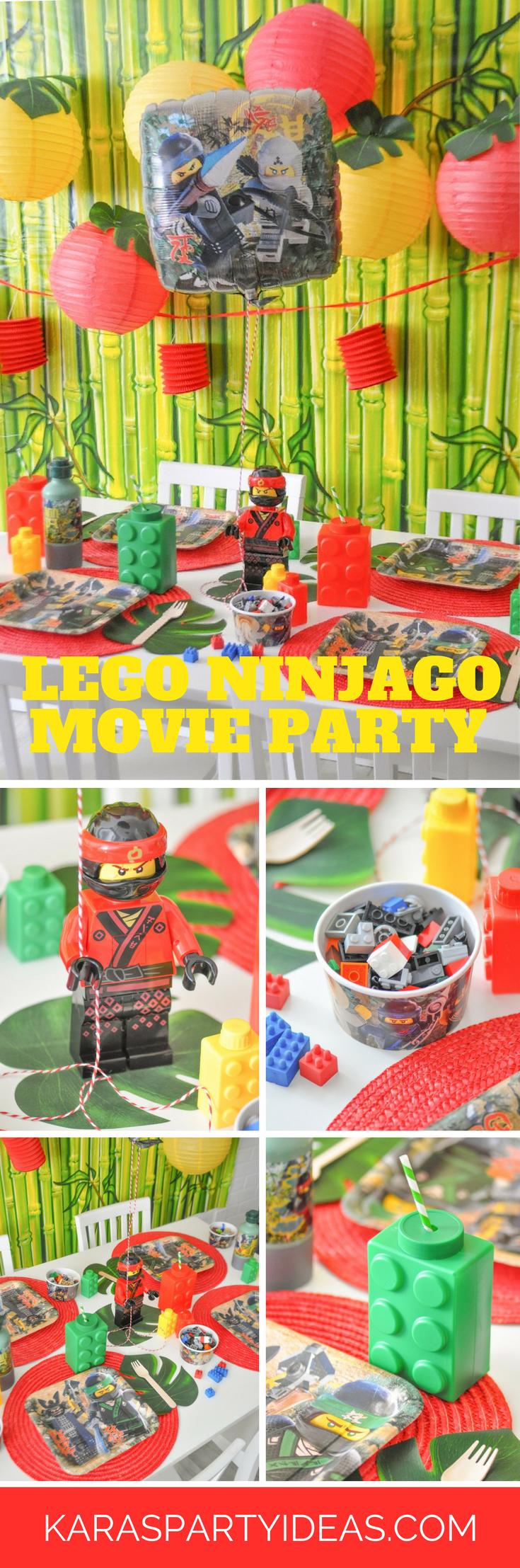 Lego Ninjago Moive Party via Kara's Party Ideas - KarasPartyIdeas.com