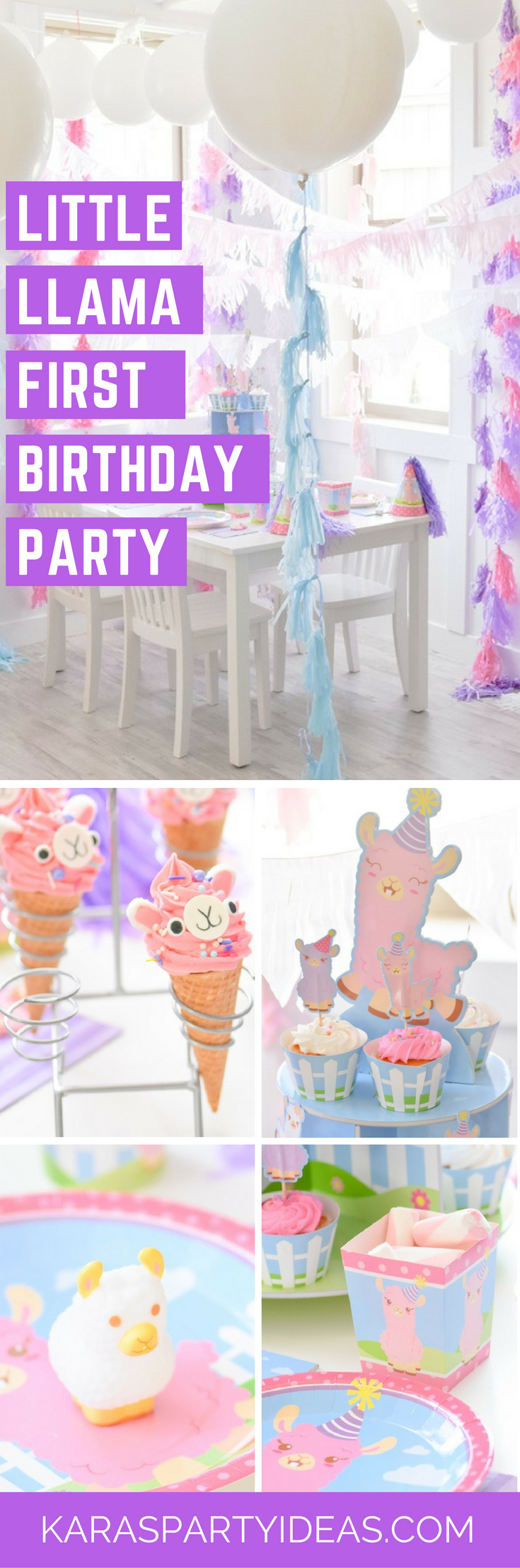 Little Llama First Birthday Party via Kara's Party Ideas - KarasPartyIdeas.com