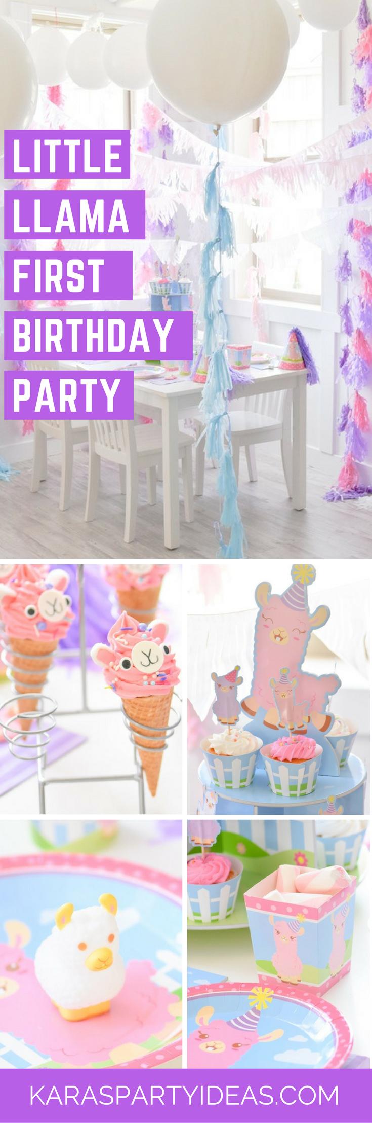 Little Llama First Birthday Party via Kara's Party Ideas - KarasPartyIdeas.com