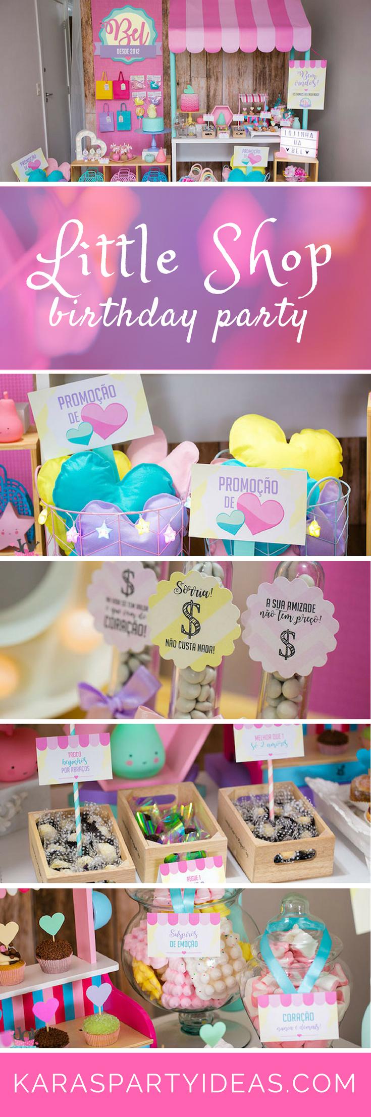 Little Shop Birthday Party - Karas Party Ideas via KarasPartyIdeas.com