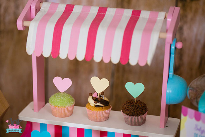 Mini cupcake stand from a Little Shop Birthday Party on Kara's Party Ideas | KarasPartyIdeas.com (31)