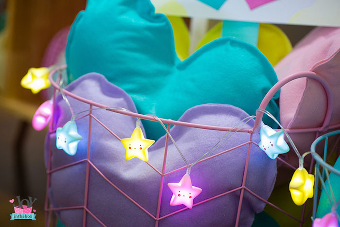 Star lights from a Little Shop Birthday Party on Kara's Party Ideas | KarasPartyIdeas.com (25)