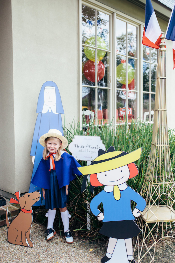 Madeline standees from a Madeline in Paris Birthday Party on Kara's Party Ideas | KarasPartyIdeas.com (17)