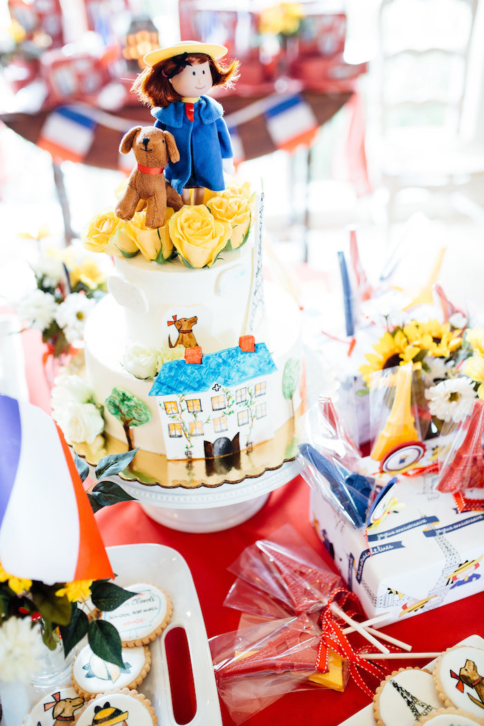 Madeline cake from a Madeline in Paris Birthday Party on Kara's Party Ideas | KarasPartyIdeas.com (11)