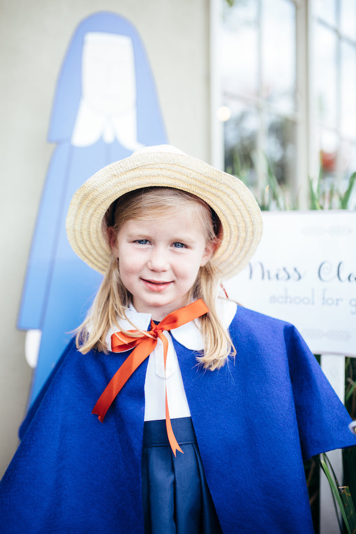 Madeline costume from a Madeline in Paris Birthday Party on Kara's Party Ideas | KarasPartyIdeas.com (10)