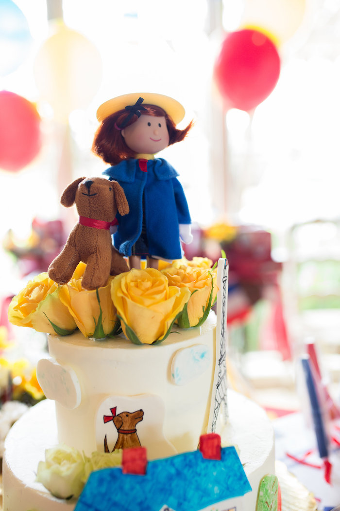 Madeline and dog cake topper from a Madeline in Paris Birthday Party on Kara's Party Ideas | KarasPartyIdeas.com (8)