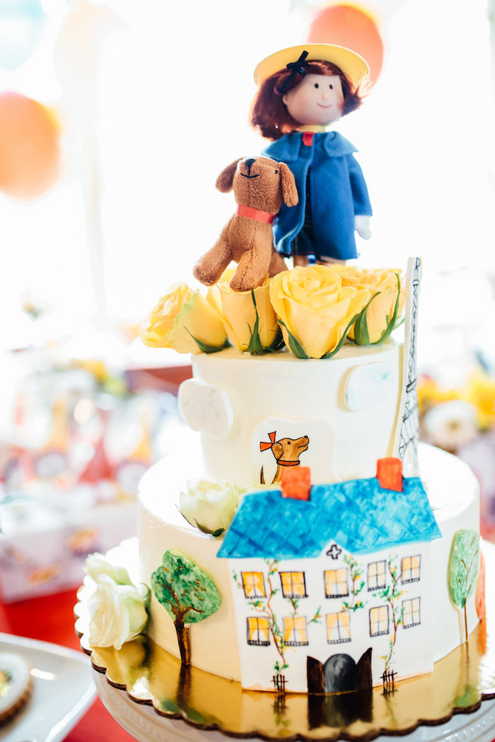 Madeline cake from a Madeline in Paris Birthday Party on Kara's Party Ideas | KarasPartyIdeas.com (23)