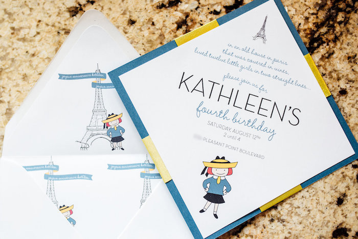 Madeline party invite from a Madeline in Paris Birthday Party on Kara's Party Ideas | KarasPartyIdeas.com (21)