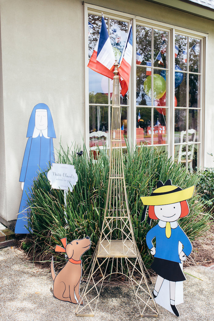 Madeline entrance from a Madeline in Paris Birthday Party on Kara's Party Ideas | KarasPartyIdeas.com (20)
