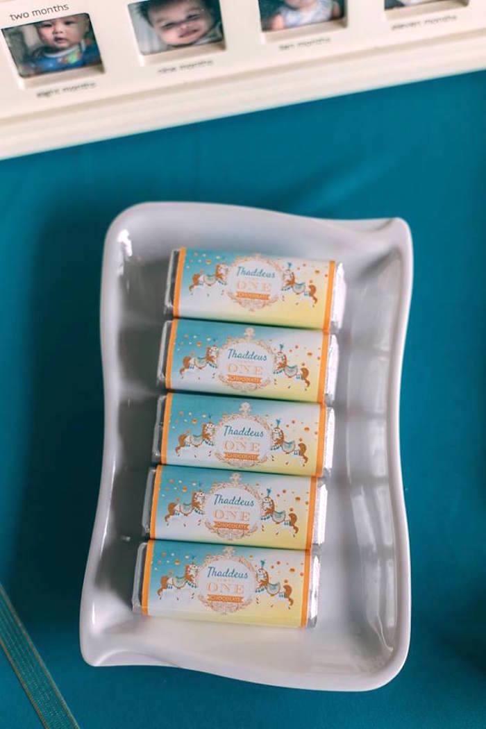 Custom candy bars from a Merry Go Round + Carousel Birthday Party on Kara's Party Ideas | KarasPartyIdeas.com (9)