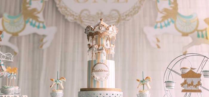 Merry Go Round + Carousel Birthday Party on Kara's Party Ideas | KarasPartyIdeas.com (2)