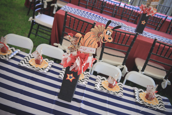 Pluto centerpiece from a Mickey Mouse Inspired Vintage Circus Party on Kara's Party Ideas | KarasPartyIdeas.com (12)