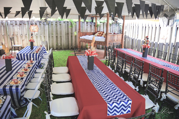 Guest tables from a Mickey Mouse Inspired Vintage Circus Party on Kara's Party Ideas | KarasPartyIdeas.com (10)