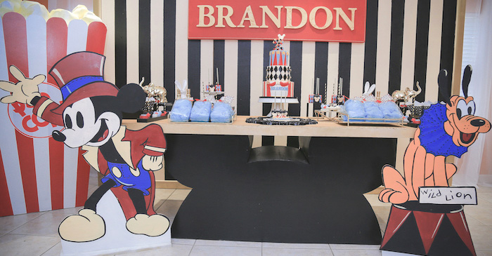 Mickey Mouse Inspired Vintage Circus Party on Kara's Party Ideas | KarasPartyIdeas.com (1)