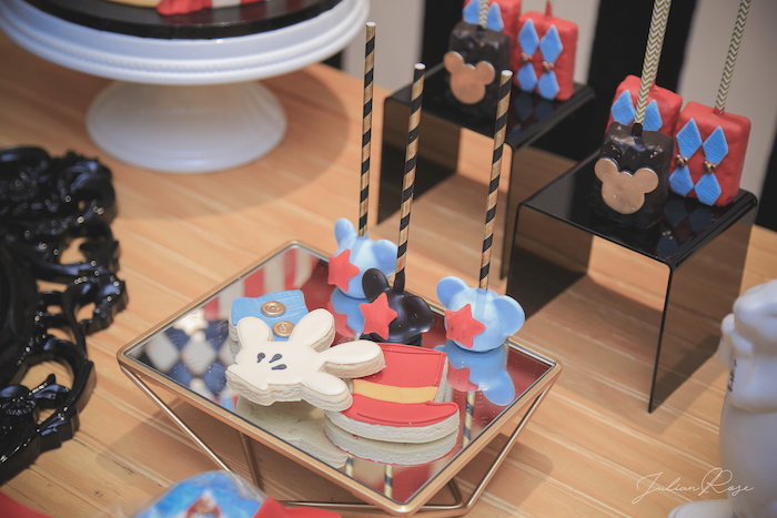 Cookies, cake pops and krispies from a Mickey Mouse Inspired Vintage Circus Party on Kara's Party Ideas | KarasPartyIdeas.com (21)