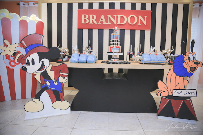 Mickey Mouse Inspired Vintage Circus Party on Kara's Party Ideas | KarasPartyIdeas.com (17)