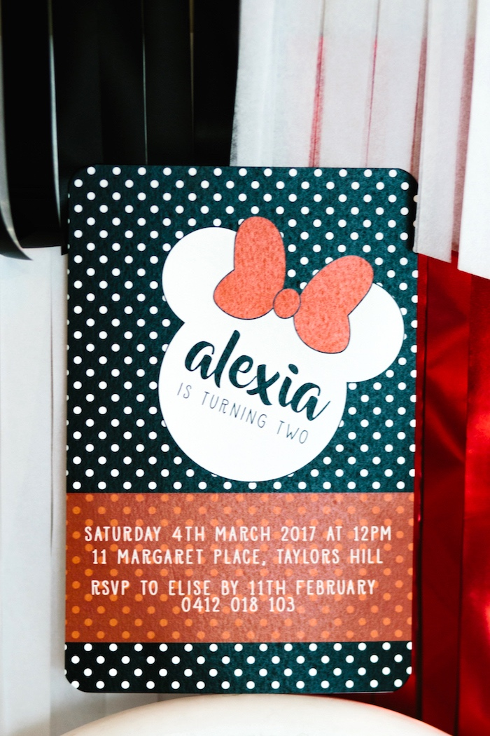 Minnie Mouse Party Invitation from a Minnie Mouse Birthday Party on Kara's Party Ideas | KarasPartyIdeas.com (14)