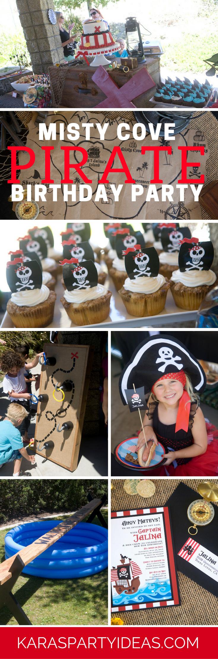 Misty Cove Pirate Birthday Party via Kara's Party Ideas - KarasPartyIdeas.com