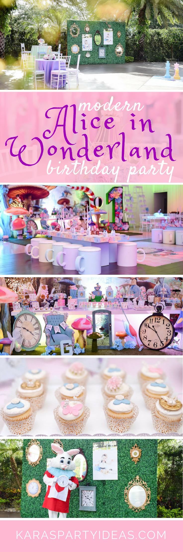Modern Alice in Wonderland Birthday Party - Karas Party Ideas via KarasPartyIdeas.com