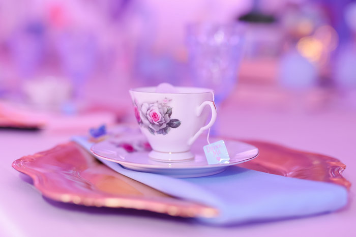 Tea cup and saucer from a Modern Alice in Wonderland Birthday Party on Kara's Party Ideas | KarasPartyIdeas.com (31)