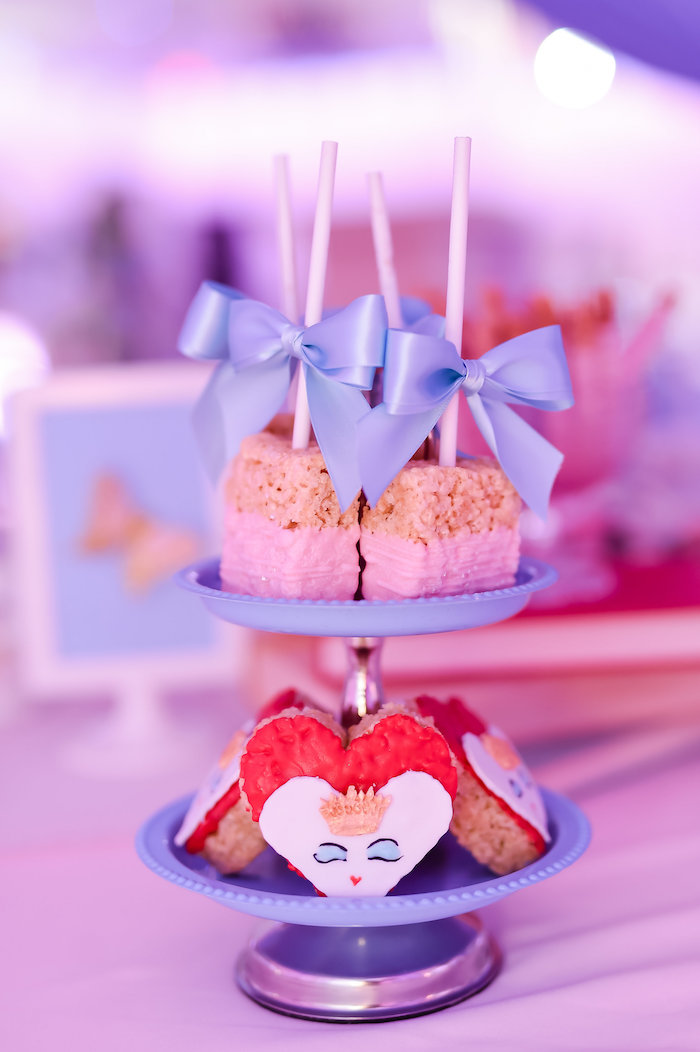 Rice Krispie Treats from a Modern Alice in Wonderland Birthday Party on Kara's Party Ideas | KarasPartyIdeas.com (30)
