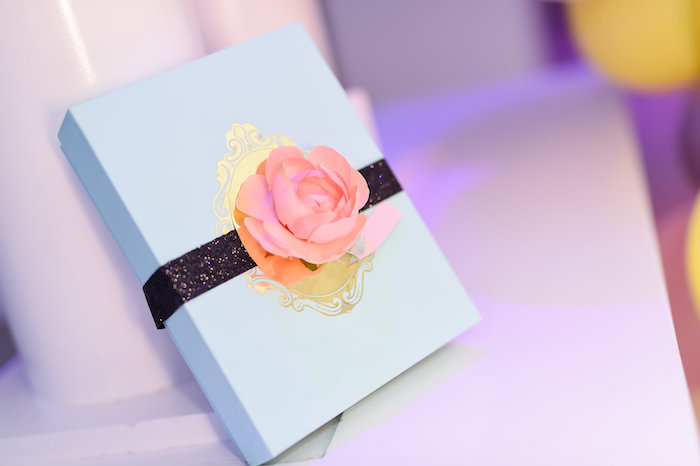 Gift box from a Modern Alice in Wonderland Birthday Party on Kara's Party Ideas | KarasPartyIdeas.com (20)