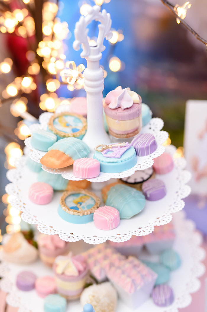 Dessert tray from a Modern Alice in Wonderland Birthday Party on Kara's Party Ideas | KarasPartyIdeas.com (13)