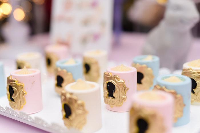 Key hole cakes from a Modern Alice in Wonderland Birthday Party on Kara's Party Ideas | KarasPartyIdeas.com (12)