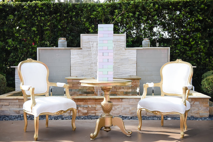 Table and chairs from a Modern Alice in Wonderland Birthday Party on Kara's Party Ideas | KarasPartyIdeas.com (49)