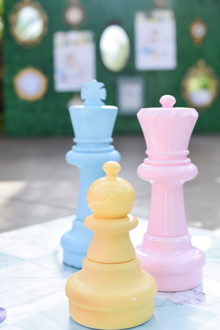 Chess pieces from a Modern Alice in Wonderland Birthday Party on Kara's Party Ideas | KarasPartyIdeas.com (45)
