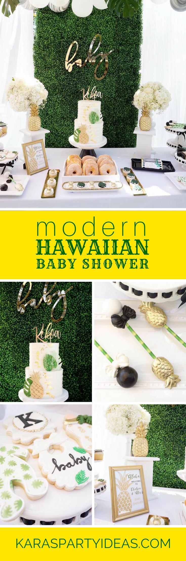 Modern Hawaiian Baby Shower
