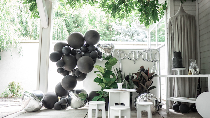 "Party spread from a Modern + Minimal ""King for a Day"" Birthday Party on Kara's Party Ideas 