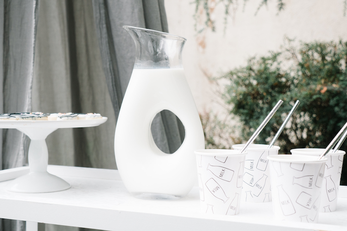 "Milk from a Modern + Minimal ""King for a Day"" Birthday Party on Kara's Party Ideas 