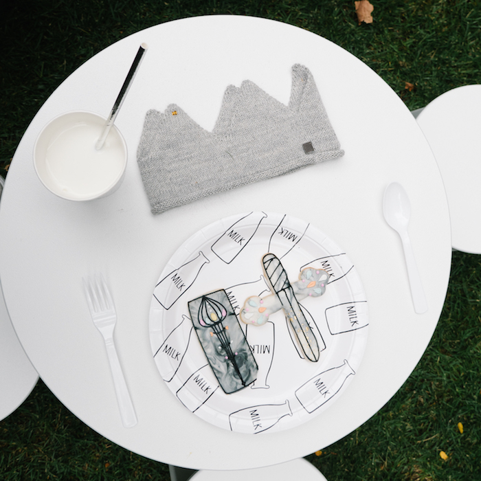 "Guest tabletop from a Modern + Minimal ""King for a Day"" Birthday Party on Kara's Party Ideas 