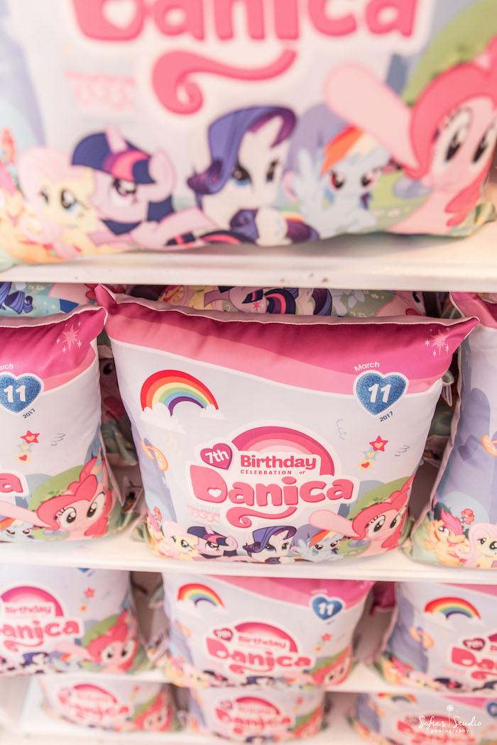 Favor pillows from a My Little Pony Birthday Party on Kara's Party Ideas | KarasPartyIdeas.com (20)
