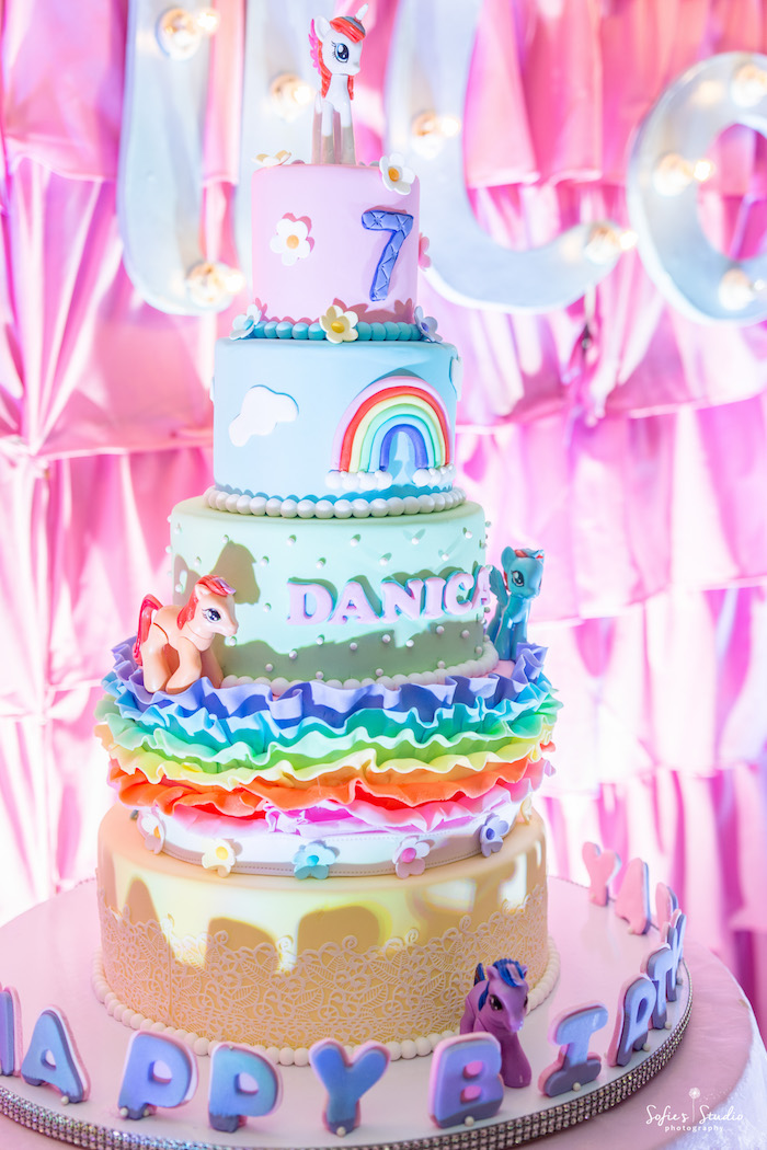 My Little Pony Cake from a My Little Pony Birthday Party on Kara's Party Ideas | KarasPartyIdeas.com (16)