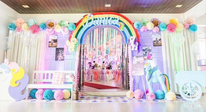Entrance from a My Little Pony Birthday Party on Kara's Party Ideas | KarasPartyIdeas.com (15)