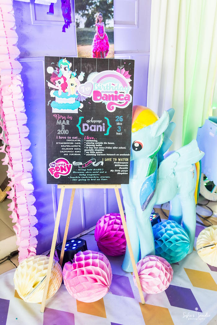 My Little Pony Highlight Board From A Birthday Party On Karas Ideas