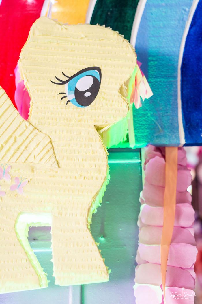 My Little Pony pinata from a My Little Pony Birthday Party on Kara's Party Ideas | KarasPartyIdeas.com (13)
